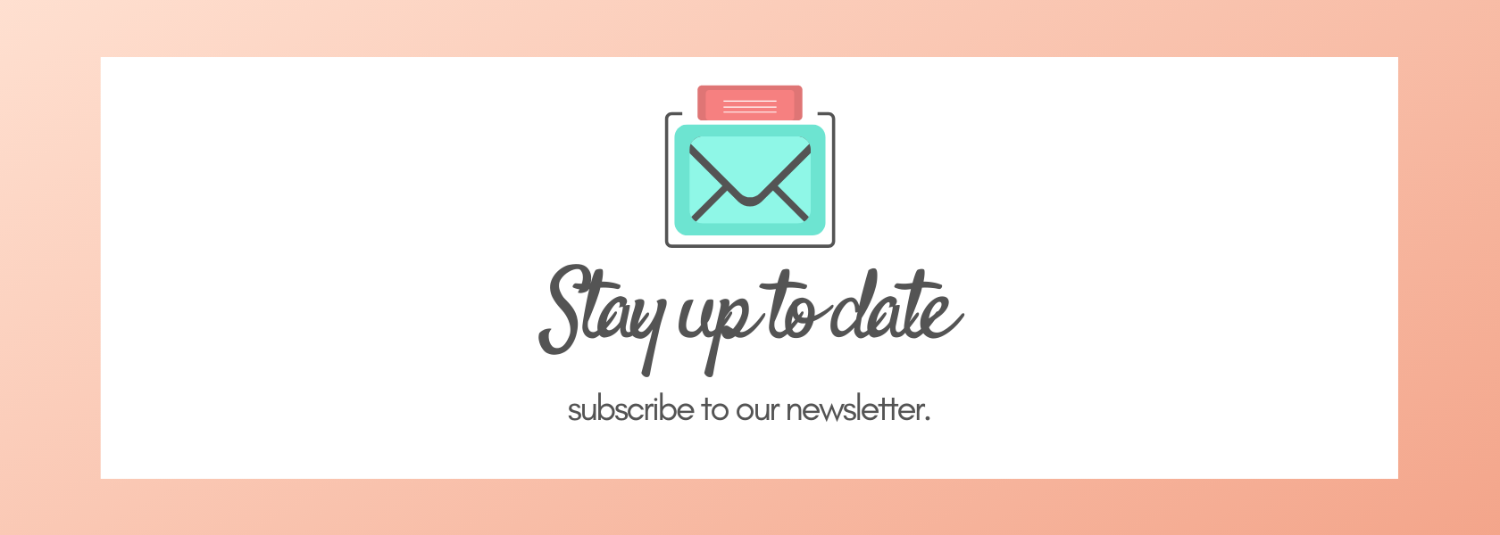 email subscribe header